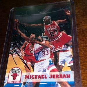 1986 Michael jordan auto Gatorade bottle fleer